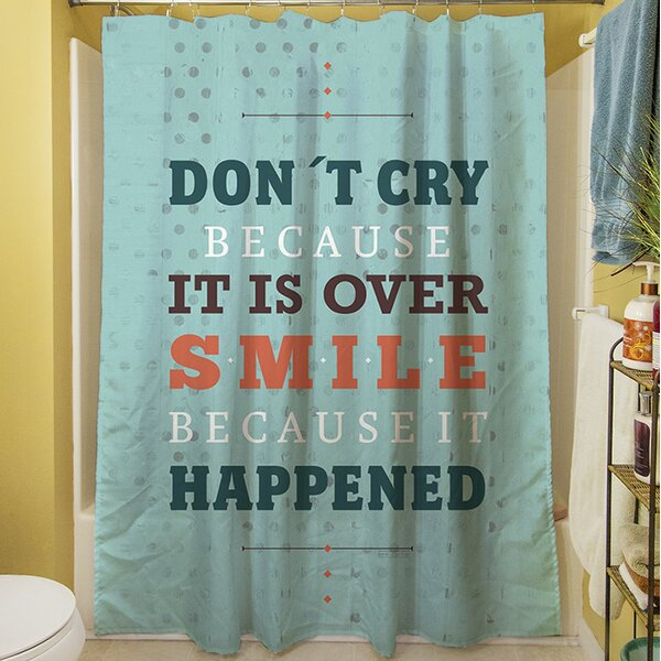 Smile at Past Shower Curtain by Manual Woodworkers & Weavers