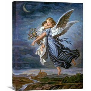 'The Guardian Angel' by Wilhelm Von Kaulbach Painting Print on Wrapped Canvas by Global Gallery