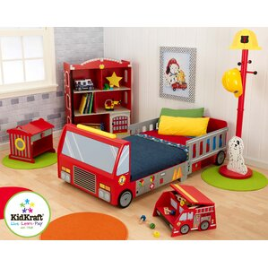 Great Firefighter Toddler Car Configurable Bedroom Set