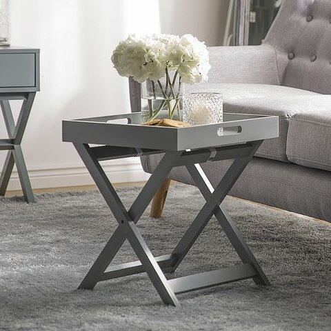 Prattsville Tray Table by Ebern Designs