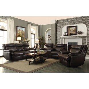 Hughes Reclining Configurable Living Room Set Red Barrel Studio