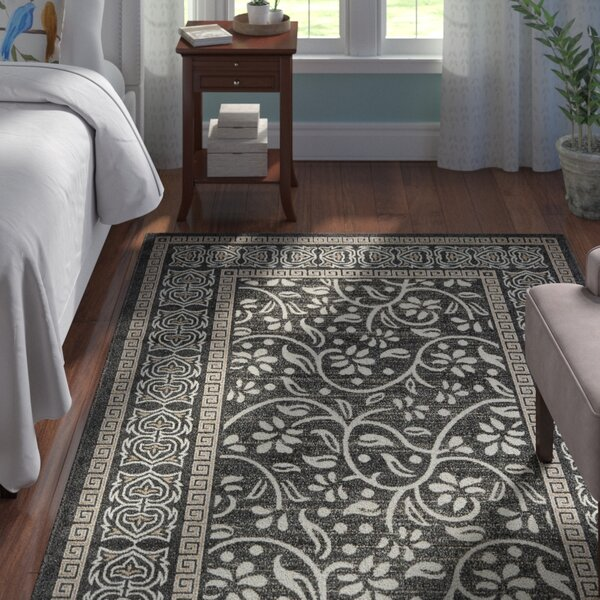 Caesar Black Indoor/Outdoor Area Rug by Andover Mills