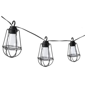 10-Light 10.5 ft. Lantern String Lights with Metal Cages