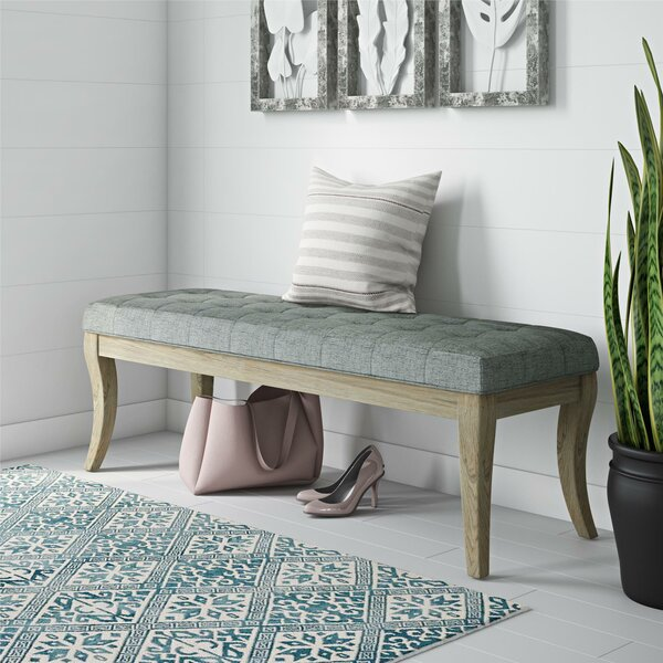 Elspeth Upholstered Bench By One Allium Way Cool