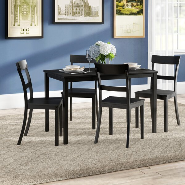 Beacher 5 Piece Dining Set by Winston Porter