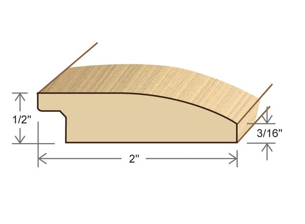 0.5 x 2 x 78 Red Oak Reducer by Moldings Online