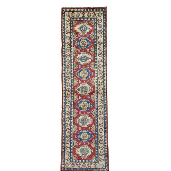 One-of-a-Kind Tillett Super Hand-Knotted Red Area Rug by Millwood Pines