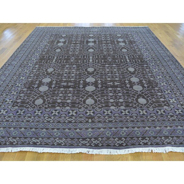 One-of-a-Kind Boaman Samark With Pomegranate Design Hand-Knotted Brown Wool Area Rug by Isabelline