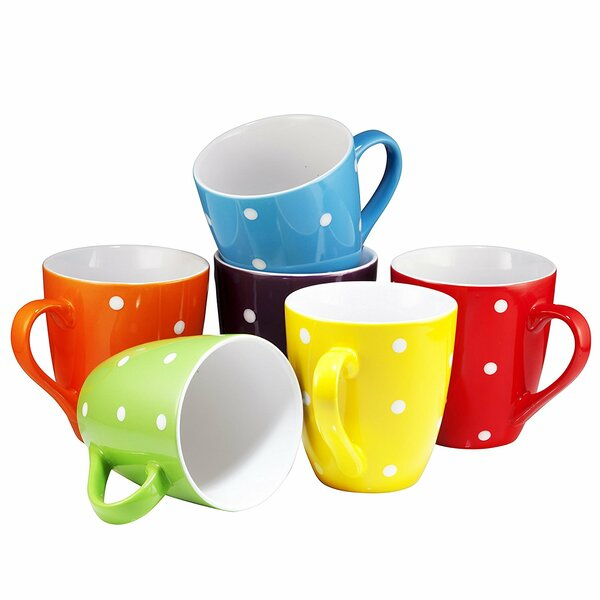 Arterburn Polka Dot Coffee Mug (Set of 6) by Wrought Studio