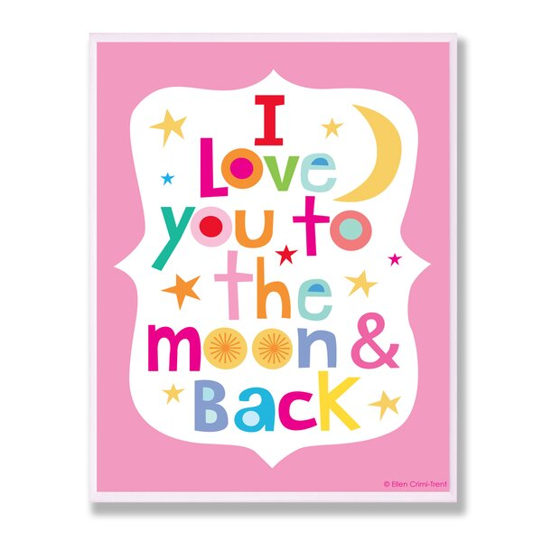 stupell industries the kids room pink i love you to the With kitchen cabinets lowes with i love you to the moon and back wall art
