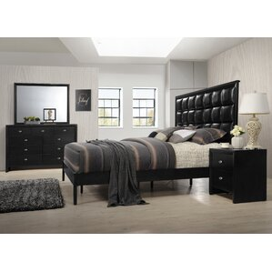 Gloria Panel 4 Piece Bedroom Set by Roundhill Furniture