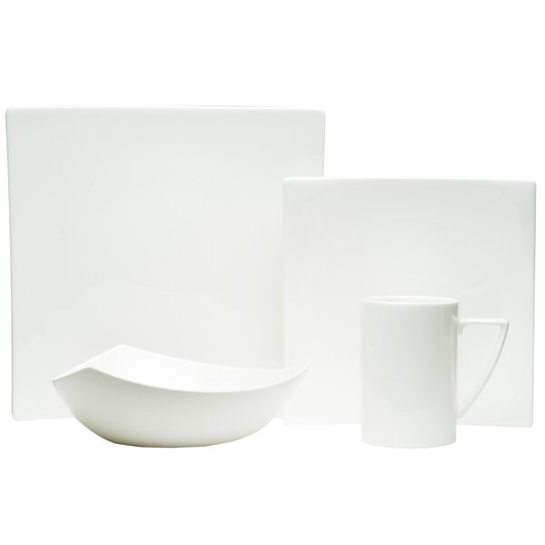Extreme Bone China 4 Piece Place Setting, Service for 1 by Red Vanilla
