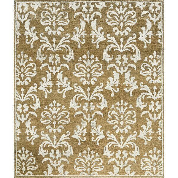 One-of-a-Kind Himilayan Hand-Knotted Gold/White Indoor Area Rug by Bokara Rug Co., Inc.