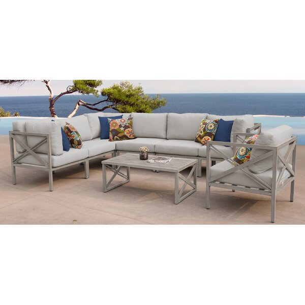 Carlisle 8 Piece Outdoor Sectional Set with Cushions by TK Classics