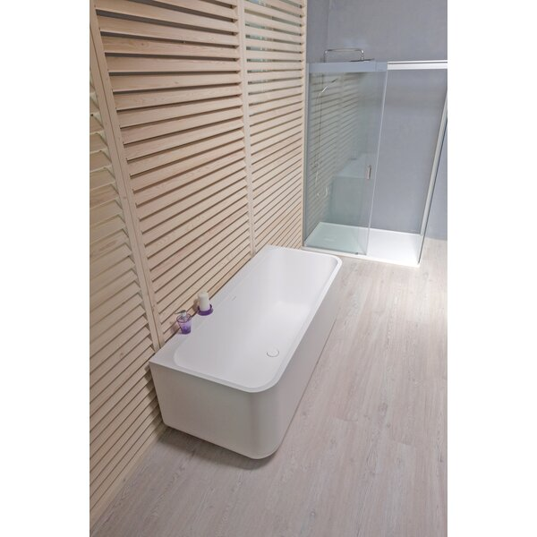 Sincera 63 x 28 Freestanding Soaking Bathtub by Aquatica