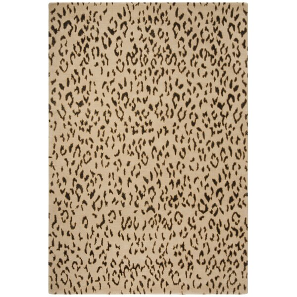 Hedgerley Hand-Knotted Cream / Deep Taupe Area Rug by Bloomsbury Market