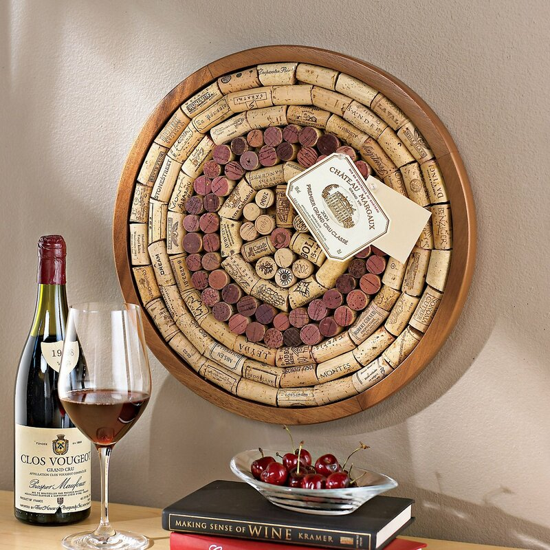 Round Wine Cork Board Kit Wall Mounted