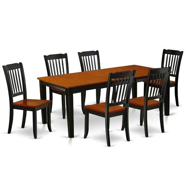 Kondo 7 Piece Extendable Solid Wood Dining Set by August Grove August Grove