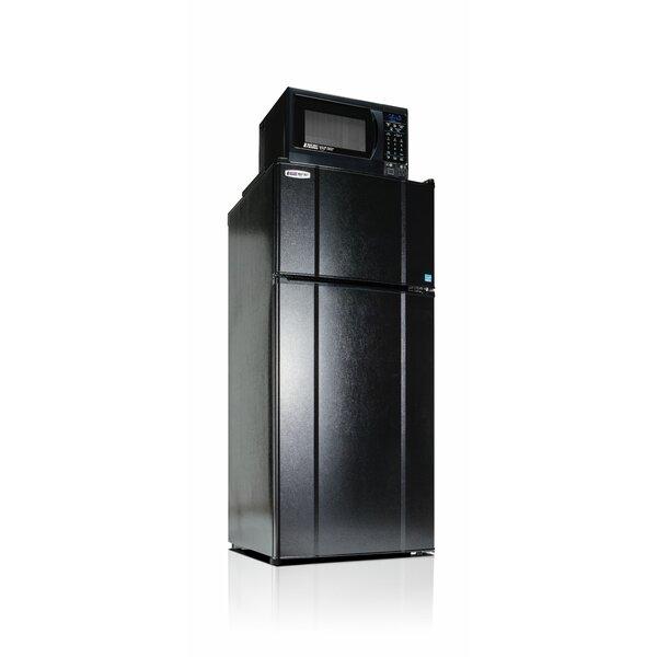 Apartment 24 Top Freezer Refrigerator with Microwave 10.3 cu. ft. Top Freezer Refrigerator with Microwave