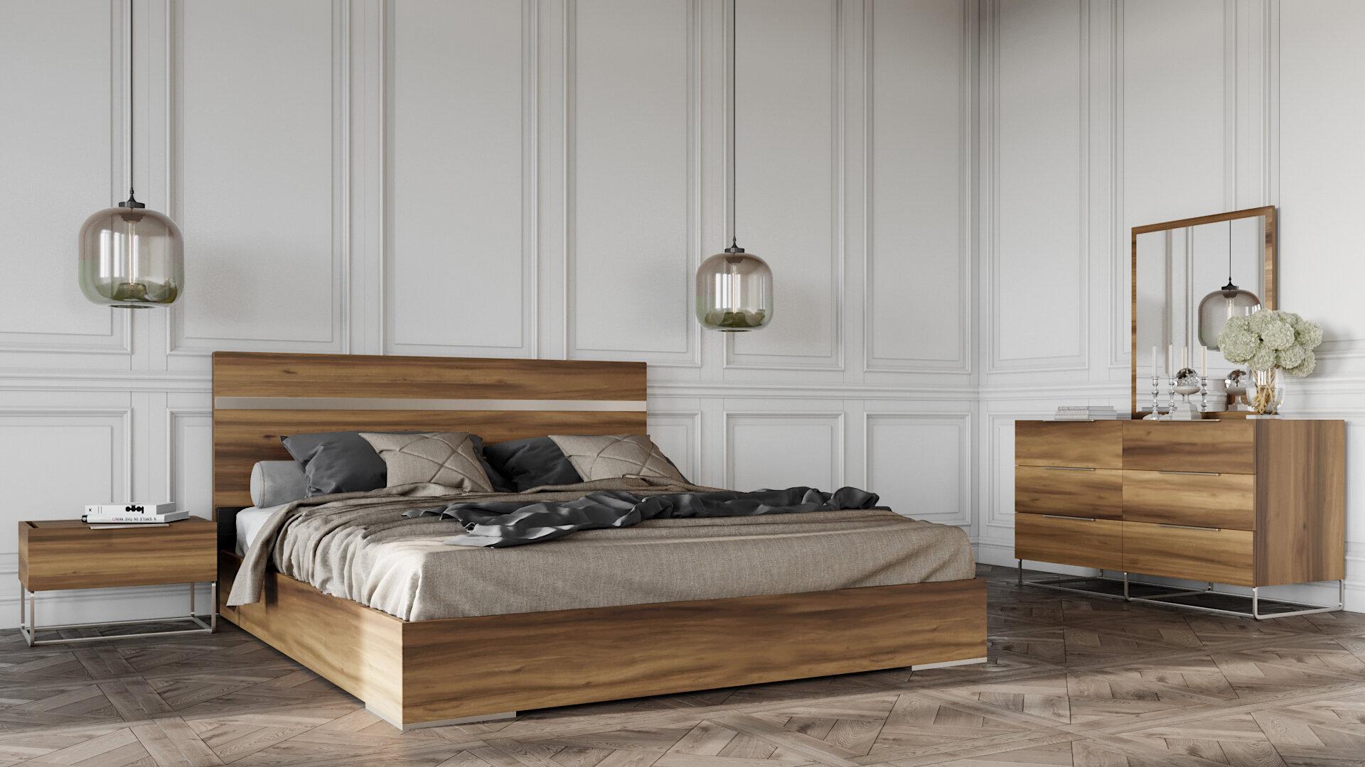 Brayden Studio Kingon Platform 5 Piece Bedroom Set Wayfair