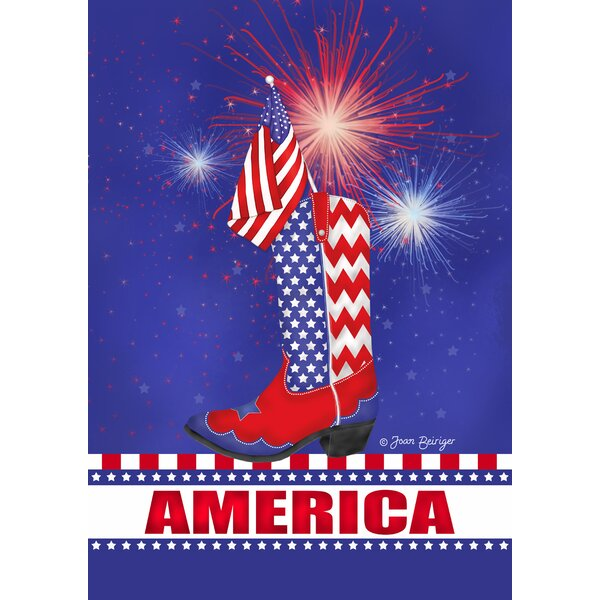 Celebrate America Garden flag by Toland Home Garden