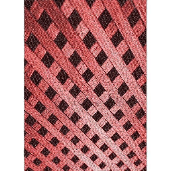 Geometric Wool Indian Red/Maroon Area Rug