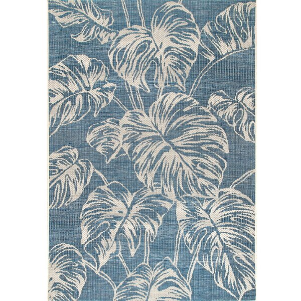 Madison Floral Navy Indoor / Outdoor Use Area Rug