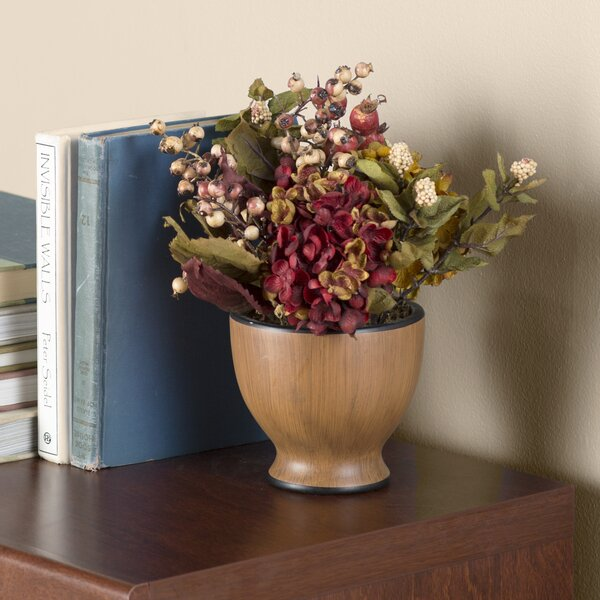 Hydrangea Centerpiece in Decorative Vase by Charlton Home