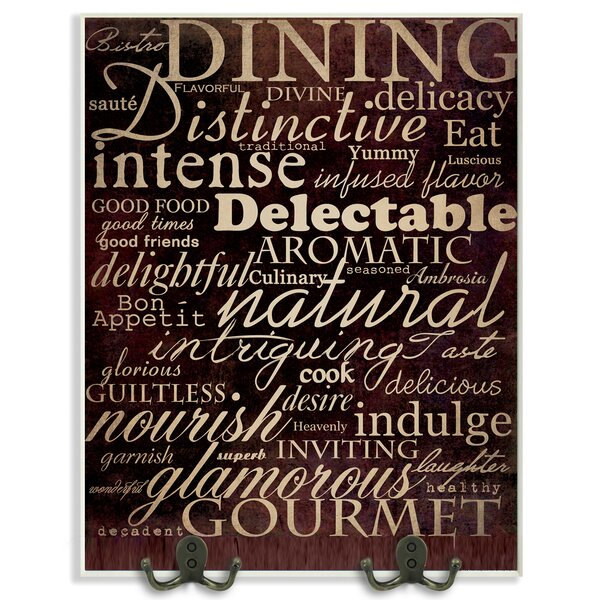 Dining Words Black Kitchen Textual Art Wall Plaque by Stupell Industries