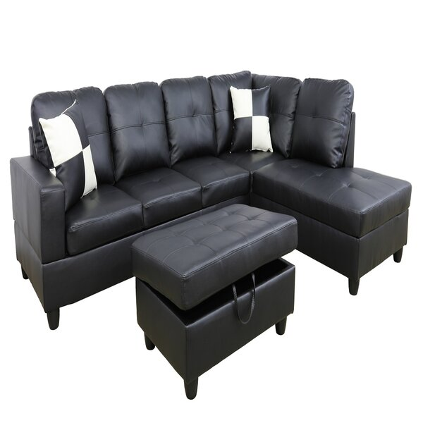 Genivra Roy 32'' Right Hand Facing Sectional With Ottoman By Latitude Run