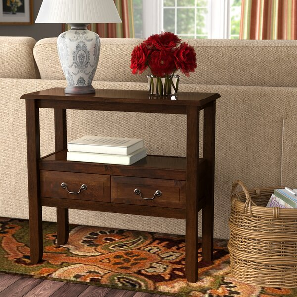 Compare prices Bockman 30.5 Solid Wood Console Table by Charlton Home