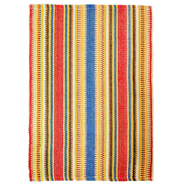 Watermill Hand-Woven Red/Blue Denim Area Rug by CLM