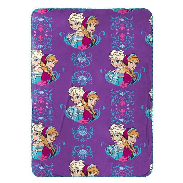 Disney Frozen Elsa & Anna Plush Travel Throw by Warner Brothers