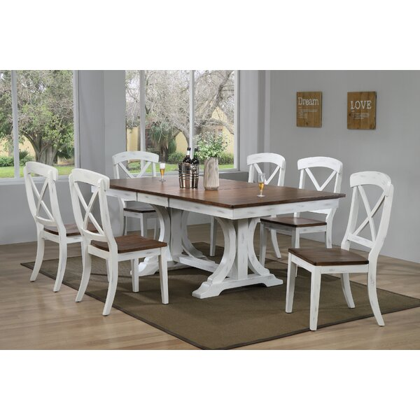 Debbra 7 Piece Extendable Solid Wood Dining Set by Darby Home Co