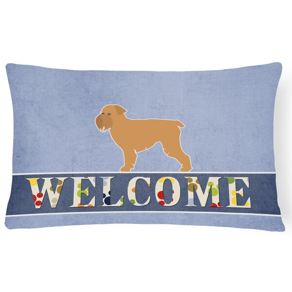 Dunning Brussels Griffon Welcome Lumbar Pillow by Red Barrel Studio