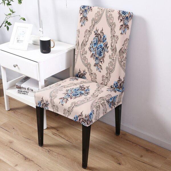 Elegant Box Cushion Dining Chair Slipcover by Astoria Grand