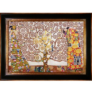 The Tree of Life, Stoclet Frieze, 1909 Metallic Embellished by Gustav Klimt Framed Painting Print by Tori Home