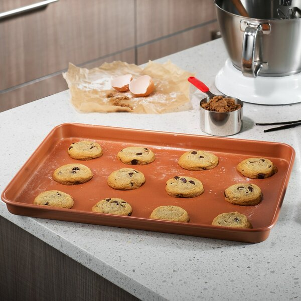 Gotham Steel Nonstick Copper Cookie Sheet and Jell