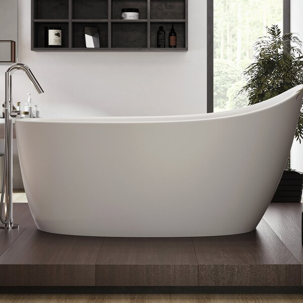 Emmanuelle 66 x 35 Freestanding Soaking Bathtub by Aquatica