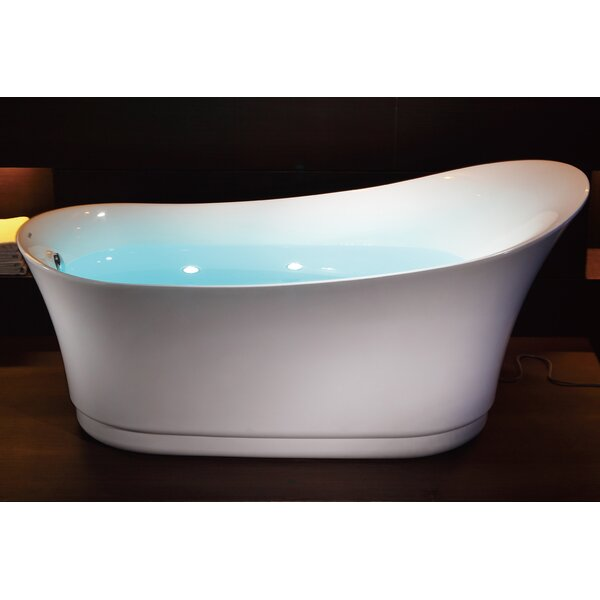Free Standing Air Bubble 68.88 x 32.5 Bathtub by EAGO