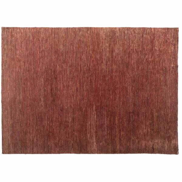 One-of-a-Kind Hand-Knotted Red 9'11 x 13'10 Jute/Sisal Area Rug