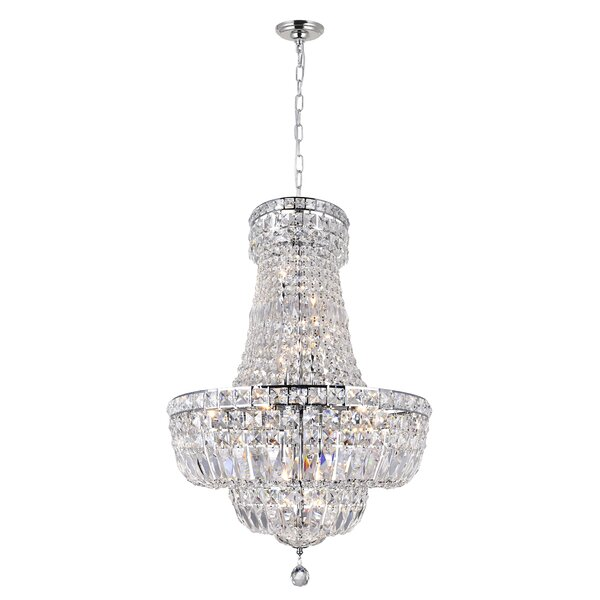 Hueytown 15-Light Unique / Statement Empire Chandelier by House of Hampton House of Hampton