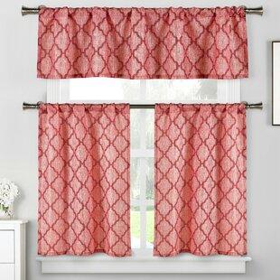 Red Valances U0026 Kitchen Curtains Youu0027ll Love | Wayfair