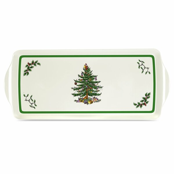 Christmas Tree Melamine Sandwich Platter by Pimper