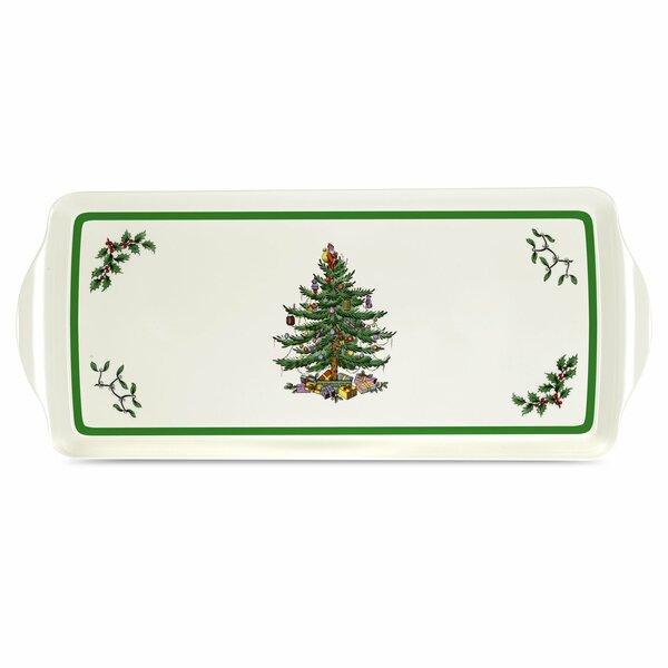 Christmas Tree Melamine Sandwich Platter by Pimpernel