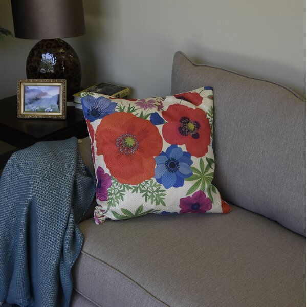 Unionstone Gem Floral Throw Pillow by Winston Porter