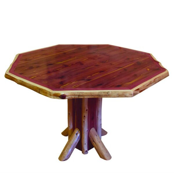 Flitwick Octagon Solid Wood Dining Table by Loon Peak Loon Peak