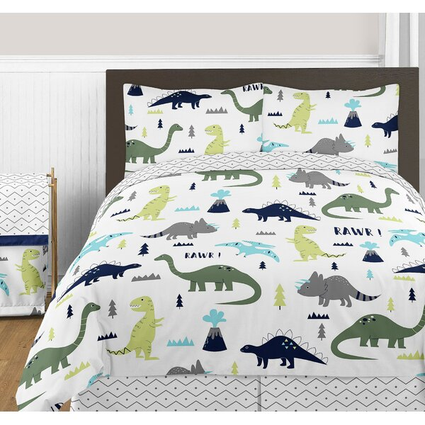 Mod Dinosaur 3 Piece Comforter Set by Sweet Jojo Designs