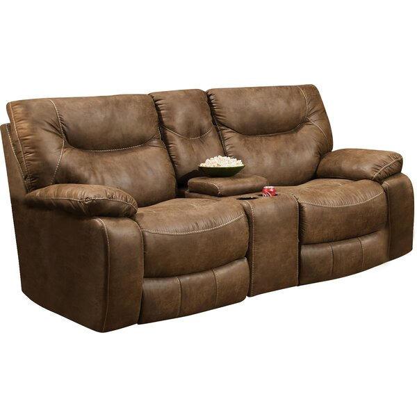 2018 Best Brand Grizzly Hill Double Motion Console Loveseat Surprise! 70% Off