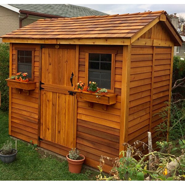 Cabana 9 ft. W x 6 ft. D Wooden Storage Shed by Outdoor Living Today